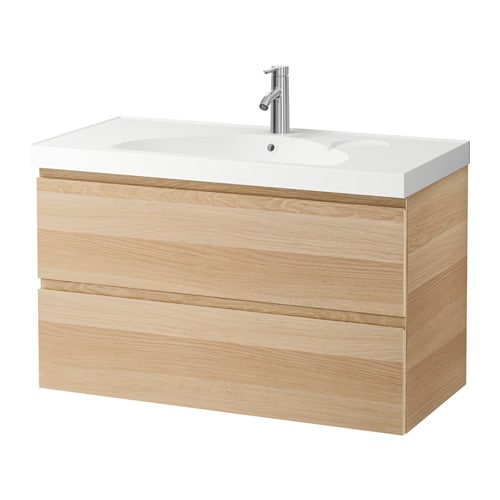 Ikea Galant File Cabinet Combination Lock ~ GODMORGON EDEBOVIKEN Wash stand with 2 drawers White stained oak