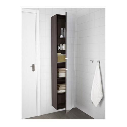 godmorgon high cabinet with mirror door black brown