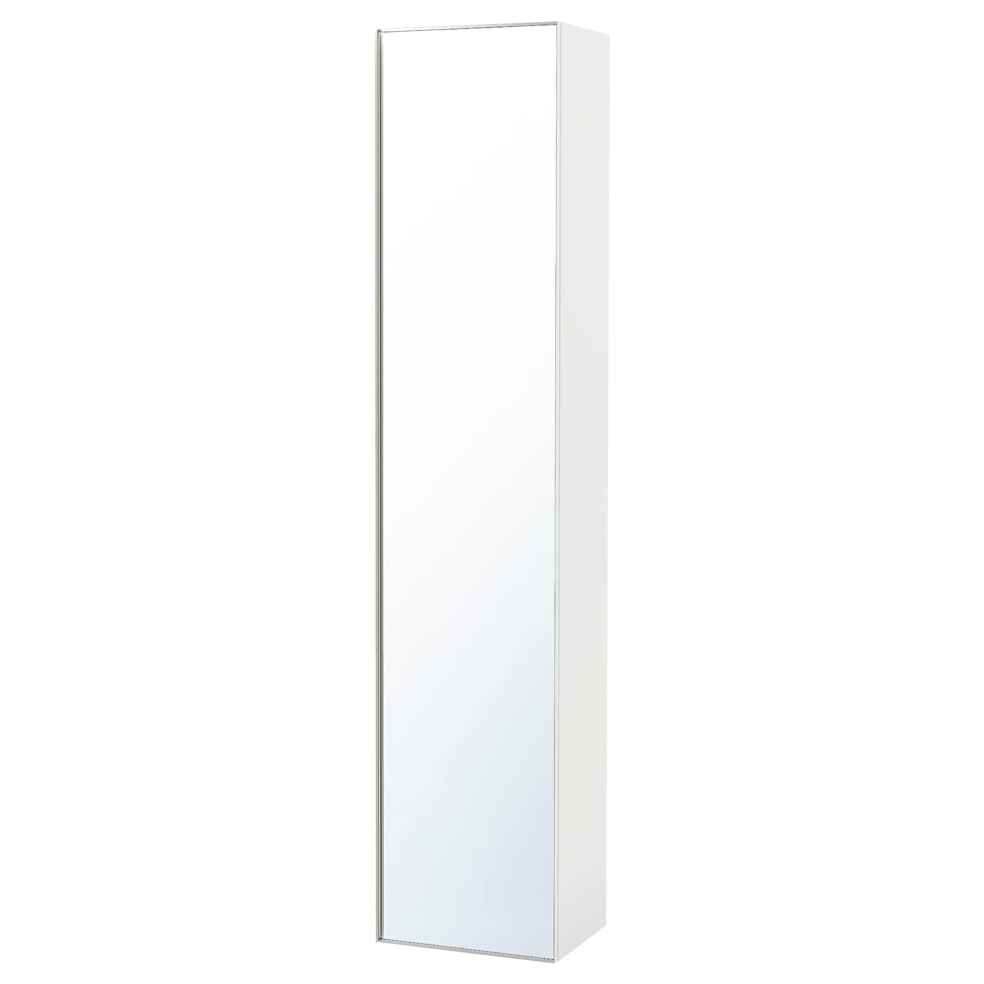 GODMORGON High cabinet with mirror door High gloss white