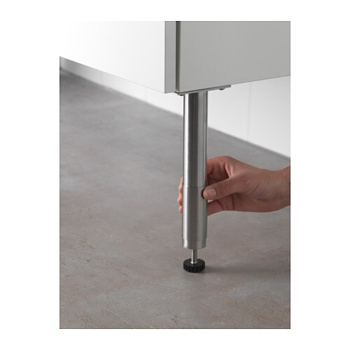 IKEA GODMORGON leg Adjustable feet for increased stability and protection against floor moisture.