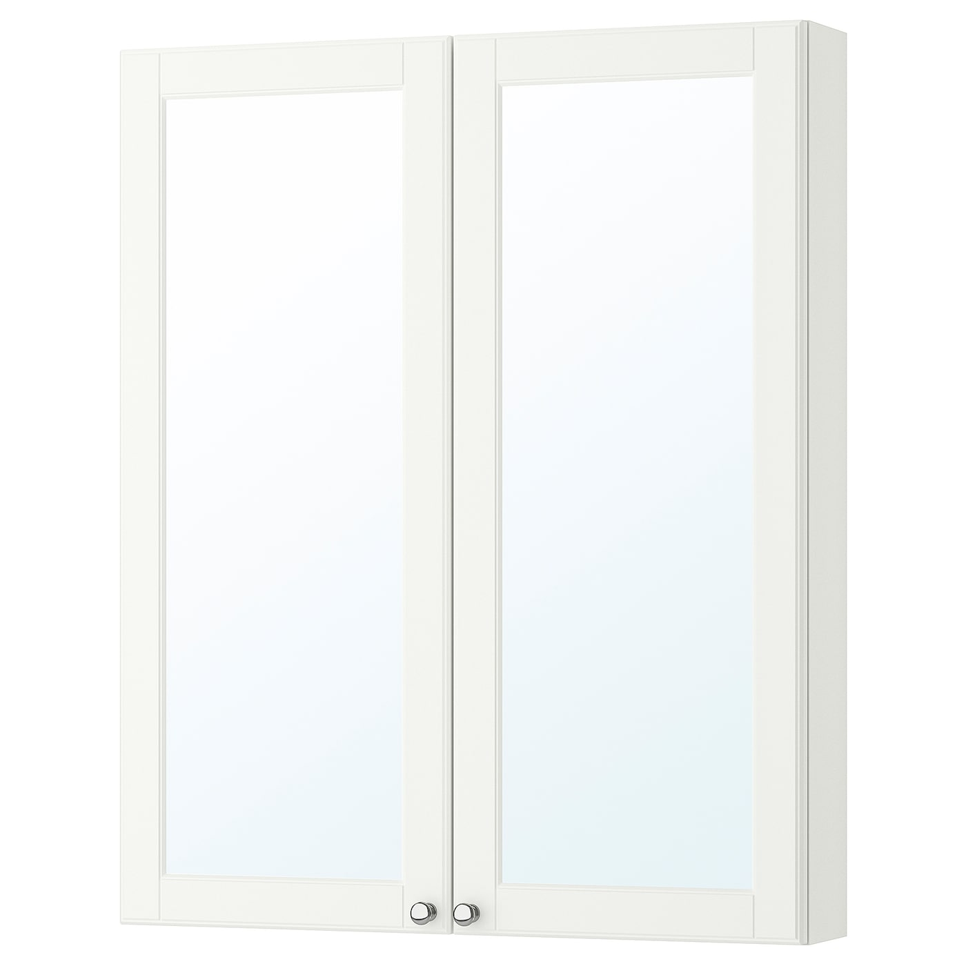 IKEA GODMORGON mirror cabinet with 2 doors Mirror door is self-closing the last few centimetres.
