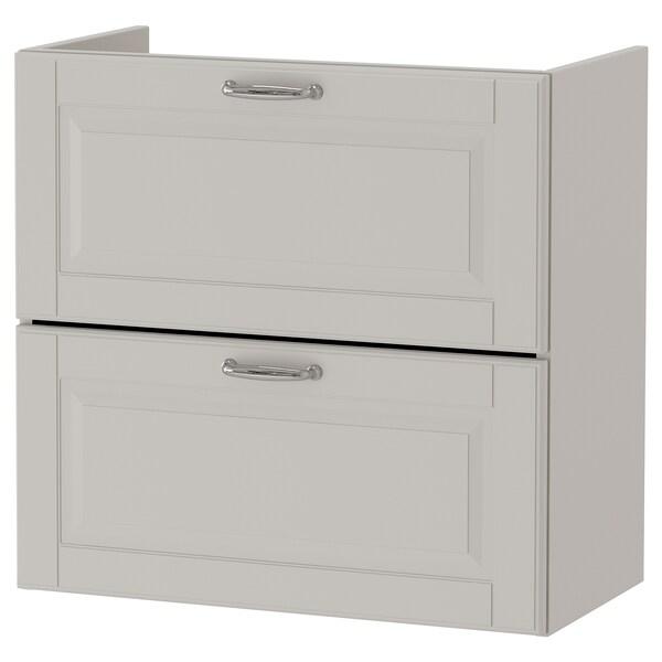 GODMORGON wash-stand with 2 drawers Kasjön light grey 60 cm 32 cm 58 cm