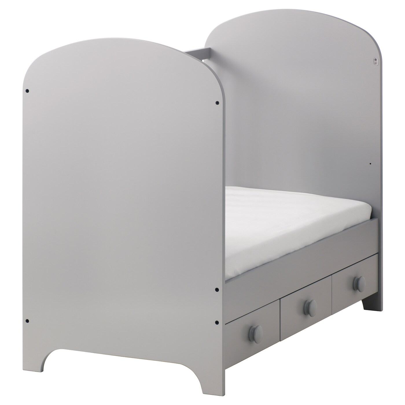 IKEA GONATT cot The cot base can be placed at two different heights.