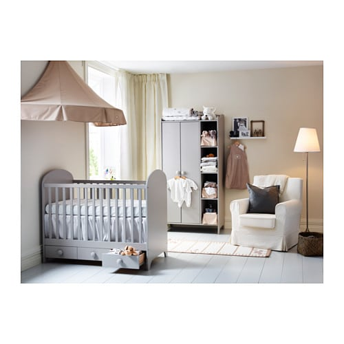 gonatt cot light grey 60x120 cm ikea. Black Bedroom Furniture Sets. Home Design Ideas