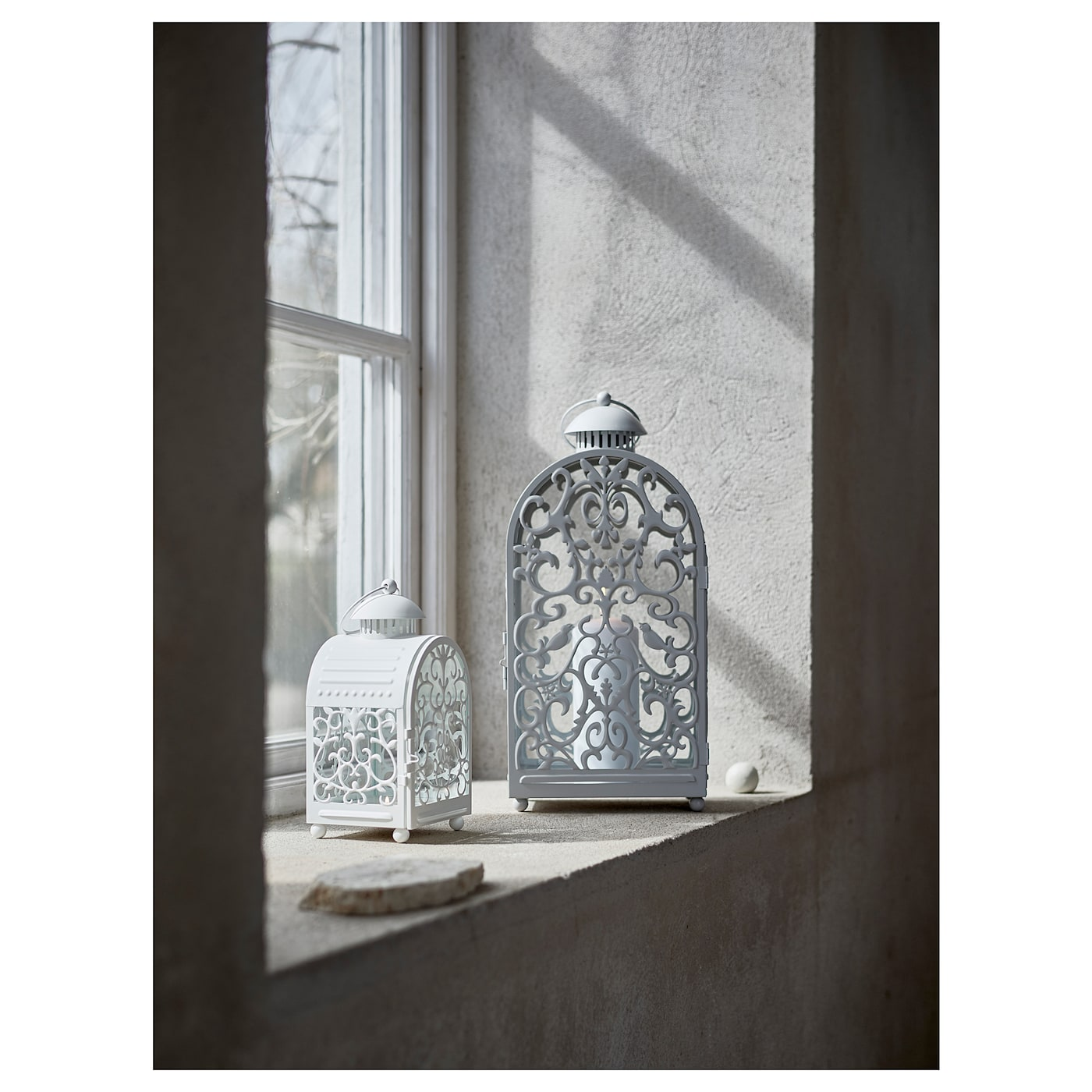 IKEA GOTTGÖRA lantern for block candle Suitable for both indoor and outdoor use.