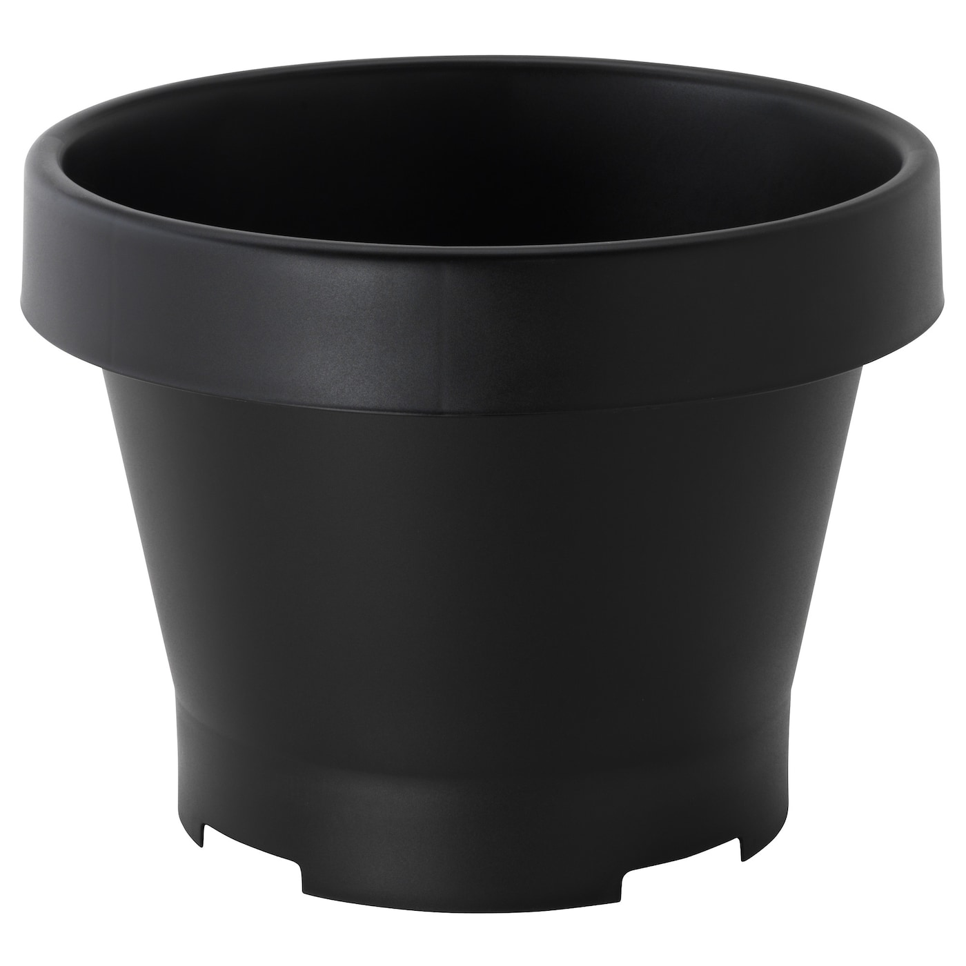 Gr va plant pot in outdoor black 42x35 cm ikea for Black planters ikea