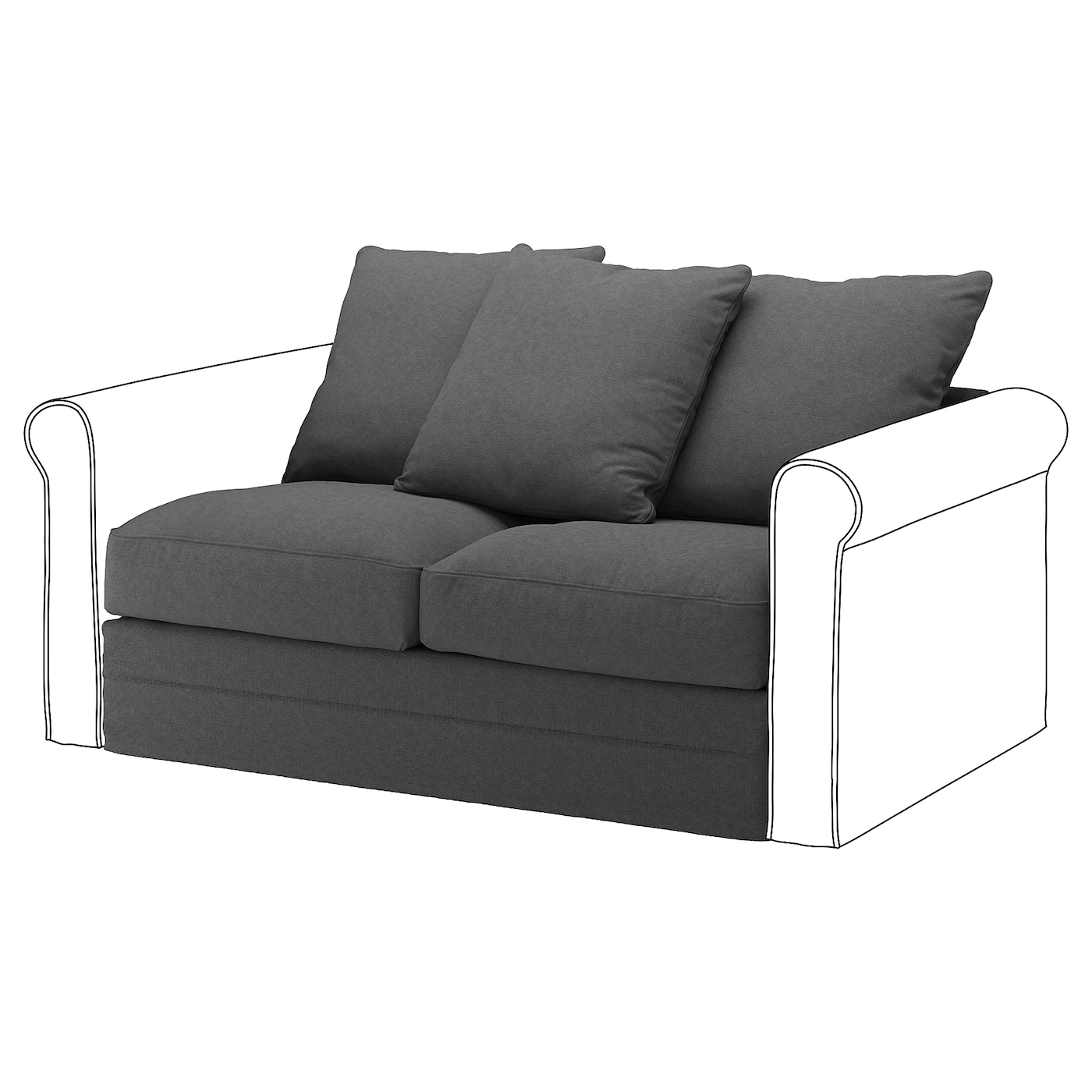 IKEA GRÖNLID 2-seat section 10 year guarantee. Read about the terms in the guarantee brochure.