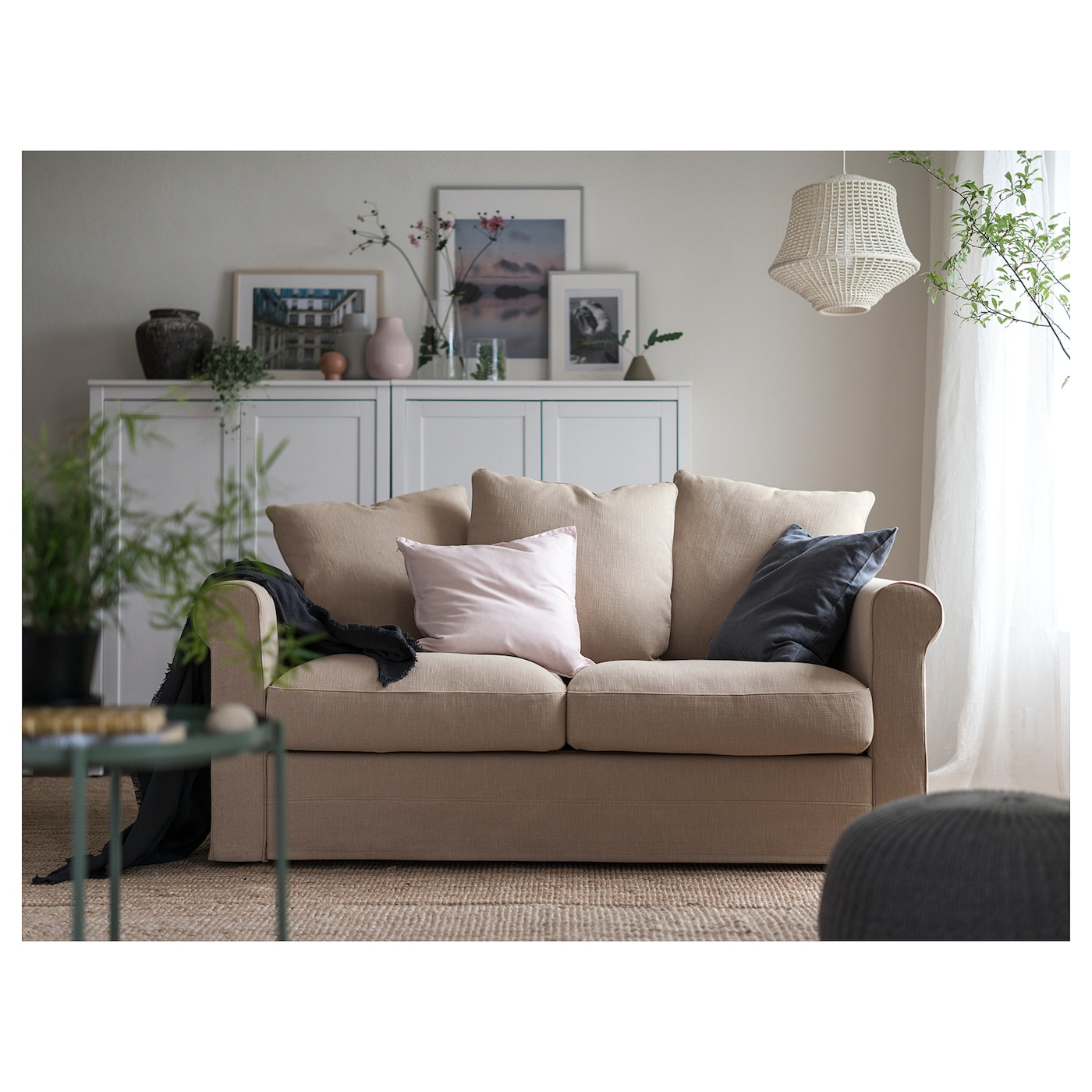 6 Easy Steps On Cleaning Your White Sofa: GRÖNLID 2-seat Sofa Sporda Natural