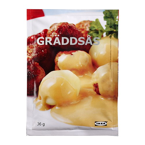 GRÄDDSÅS Cream sauce IKEA A versatile sauce on a cream base.   Serve with meatballs, beef or pork.