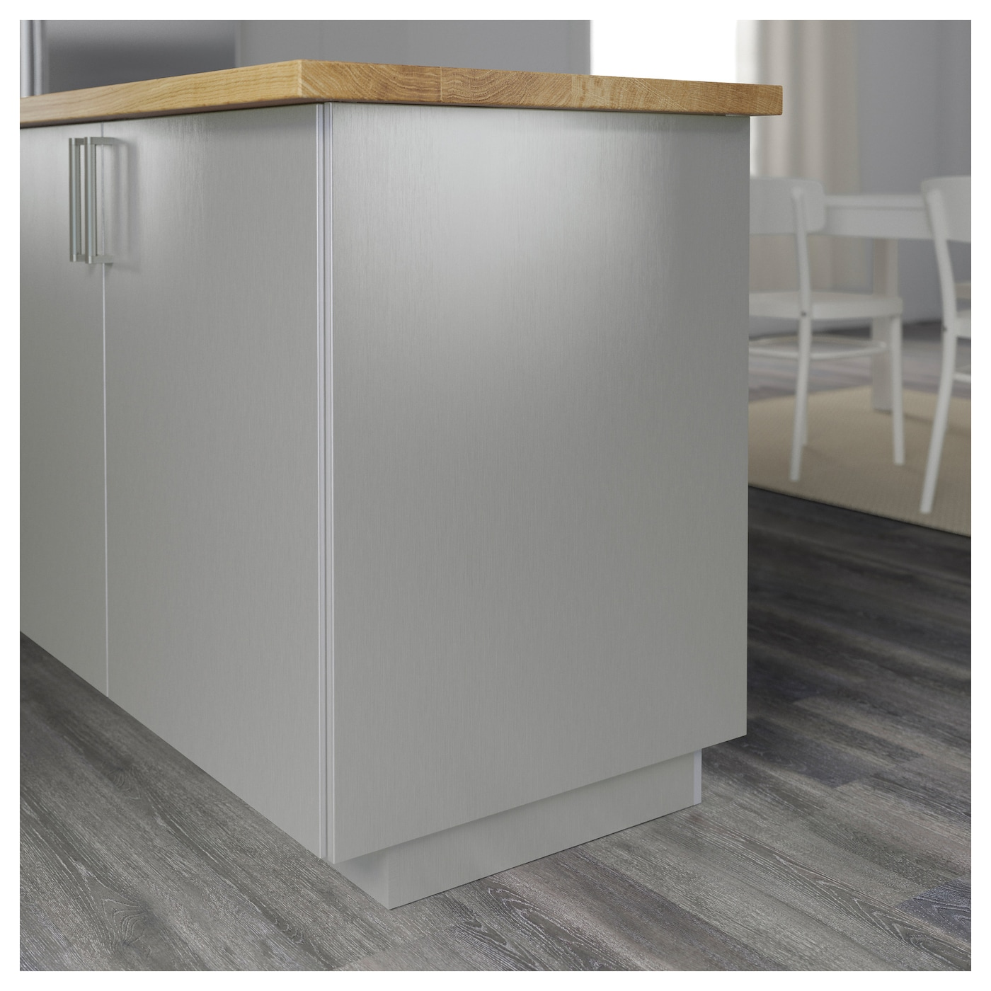 stainless kitchen cabinet doors grevsta cover panel stainless steel 39 x 100 cm ikea 26602