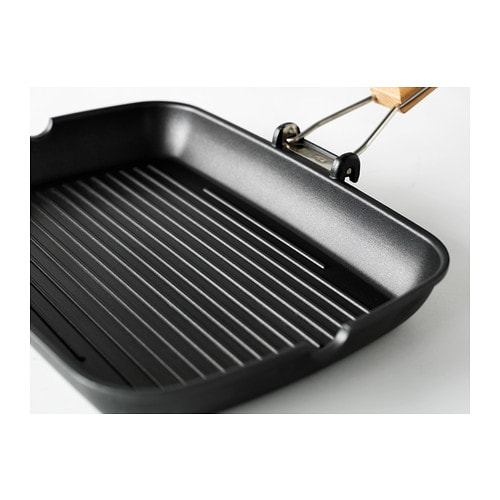 grilla grill pan black 36x26 cm ikea. Black Bedroom Furniture Sets. Home Design Ideas
