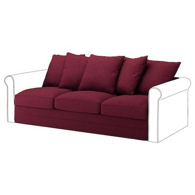 GRÖNLID 3-seat section Tallmyra dark red 104 cm 68 cm 211 cm 98 cm 7 cm 210 cm 60 cm 49 cm