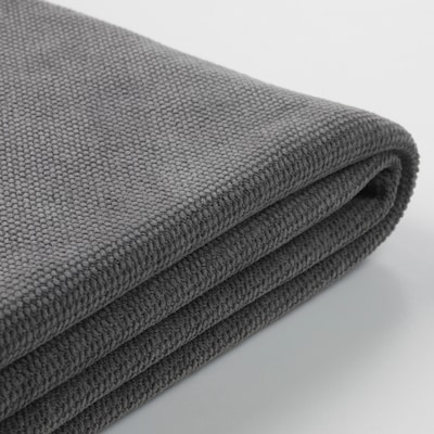 GRÖNLID cover for 3-seat sofa-bed with open end/Tallmyra medium grey