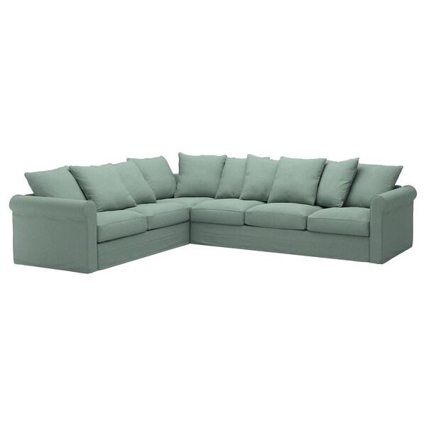 GRÖNLID cover for corner sofa, 5-seat Tallmyra light green