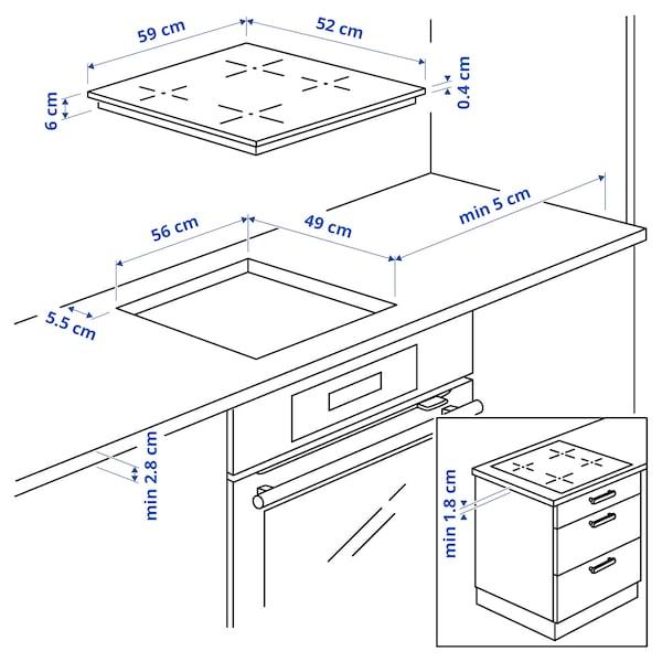 GRUNDAD Induction hob, IKEA 300 black, 59 cm