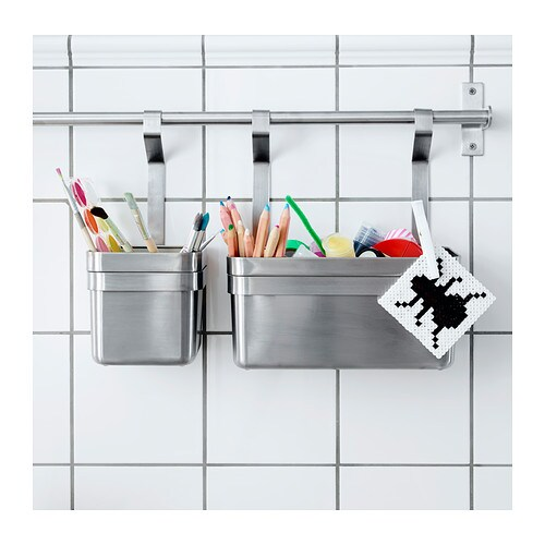 grundtal container stainless steel 25x13x28 cm ikea