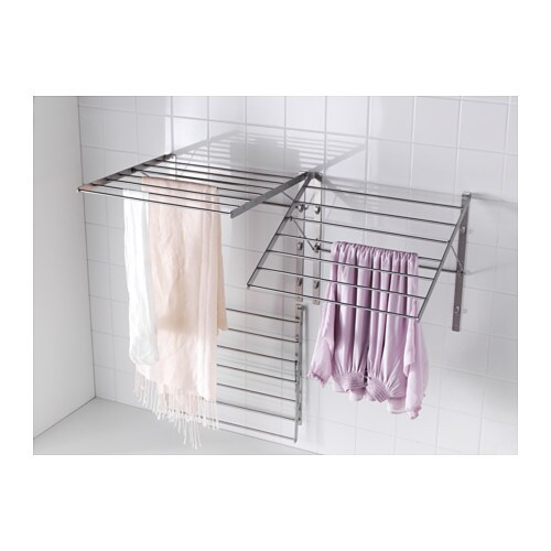 Grundtal drying rack wall stainless steel 56x54 cm ikea for Kitchen drying rack ikea