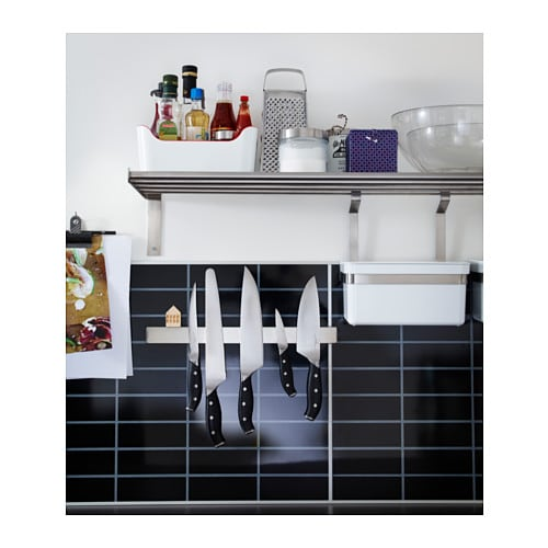 Ikea Rationell Variera Drawer Mat ~ IKEA GRUNDTAL magnetic knife rack Adds a decorative touch to your