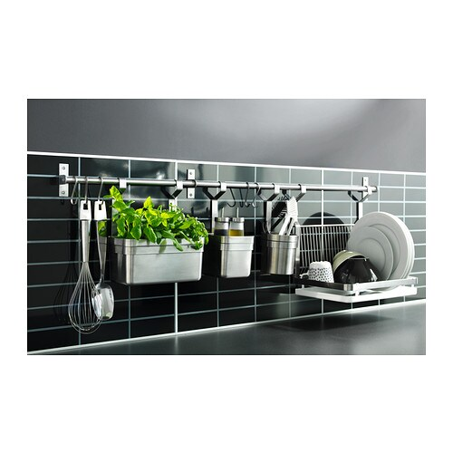 Grundtal rail stainless steel 80 cm ikea for Revetement mural credence