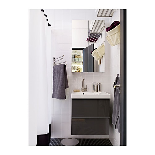 Ikea Horizontal Glass Cabinet ~  Small storage & organisers  Bathroom hooks & hangers  GRUNDTAL