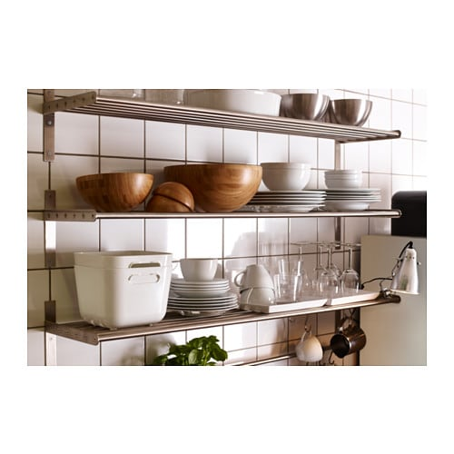 Glass Door Cabinet Ikea Kitchen ~ IKEA GRUNDTAL wall shelf Saves space on the worktop Can be used as a