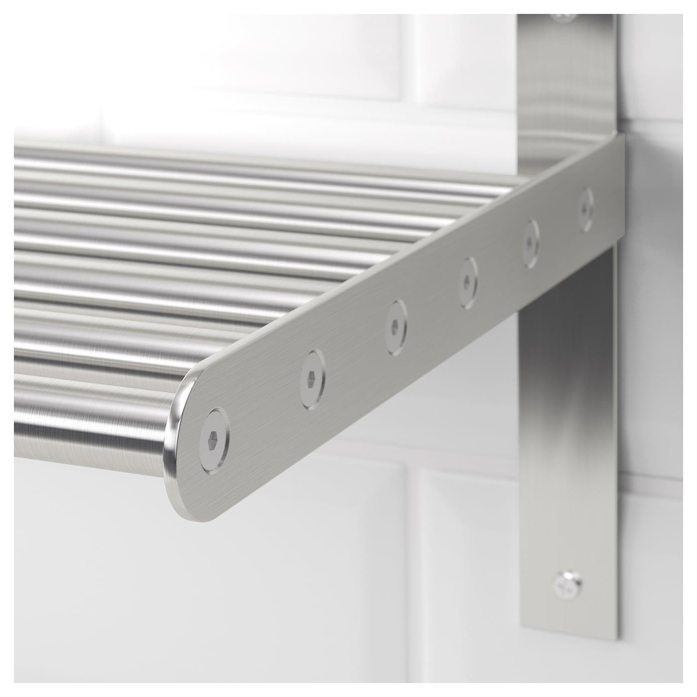 Used Ikea grundtal wall shelf stainless steel 80 cm - ikea