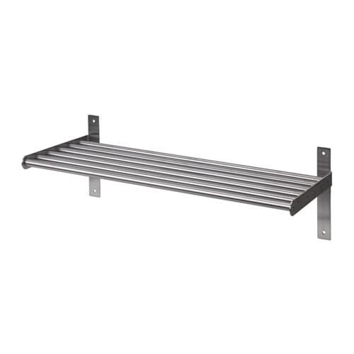grundtal wall shelf stainless steel 60 cm ikea. Black Bedroom Furniture Sets. Home Design Ideas