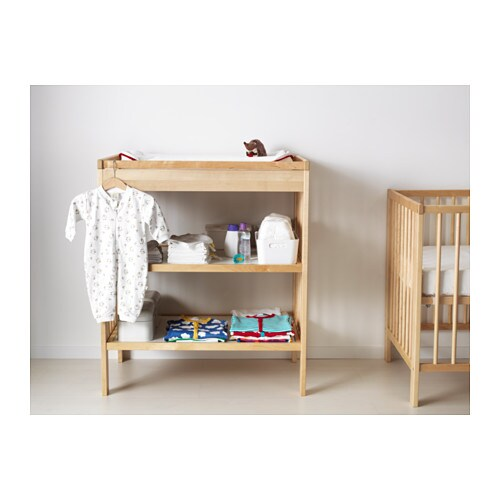 Gulliver changing table birch ikea - Table pour cuisine ikea ...