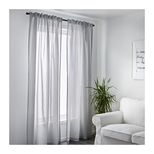Grey And White Curtains Ikea Linen Curtains IKEA