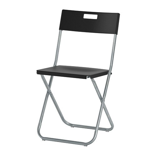 Kitchen Chairs Ikea Dublin: GUNDE Folding Chair Black