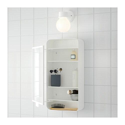 mirror cabinet with 1 door gunnern white
