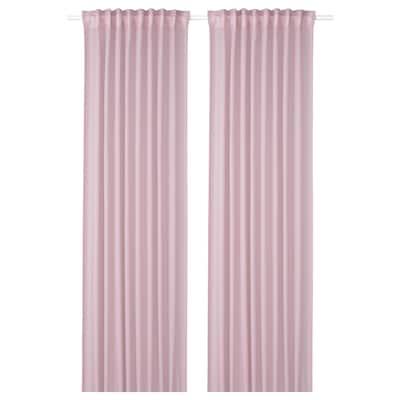 GUNRID Air purifying curtain, 1 pair, light pink, 145x250 cm