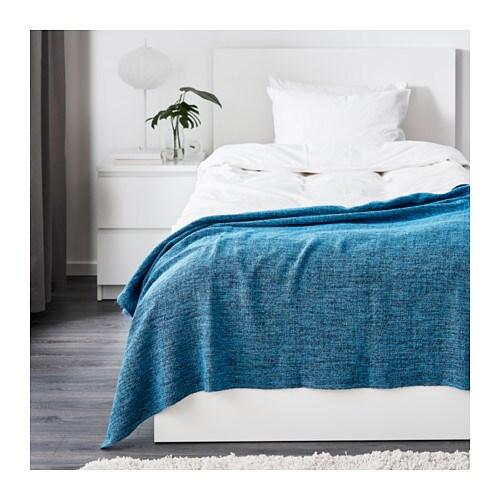gurli throw turquoise blue 120x180 cm ikea