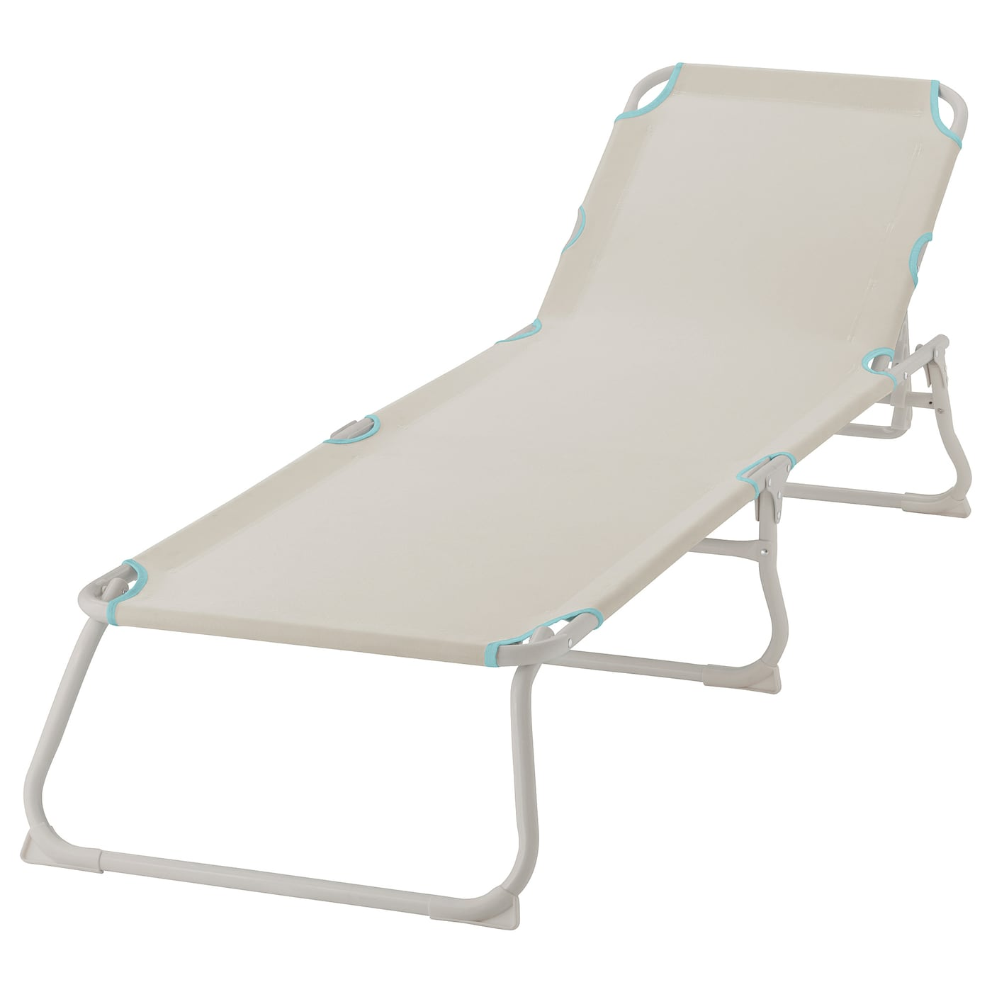 IKEA HÅMÖ sun lounger Made of heavy polyester fabric, which is very hard-wearing and durable.