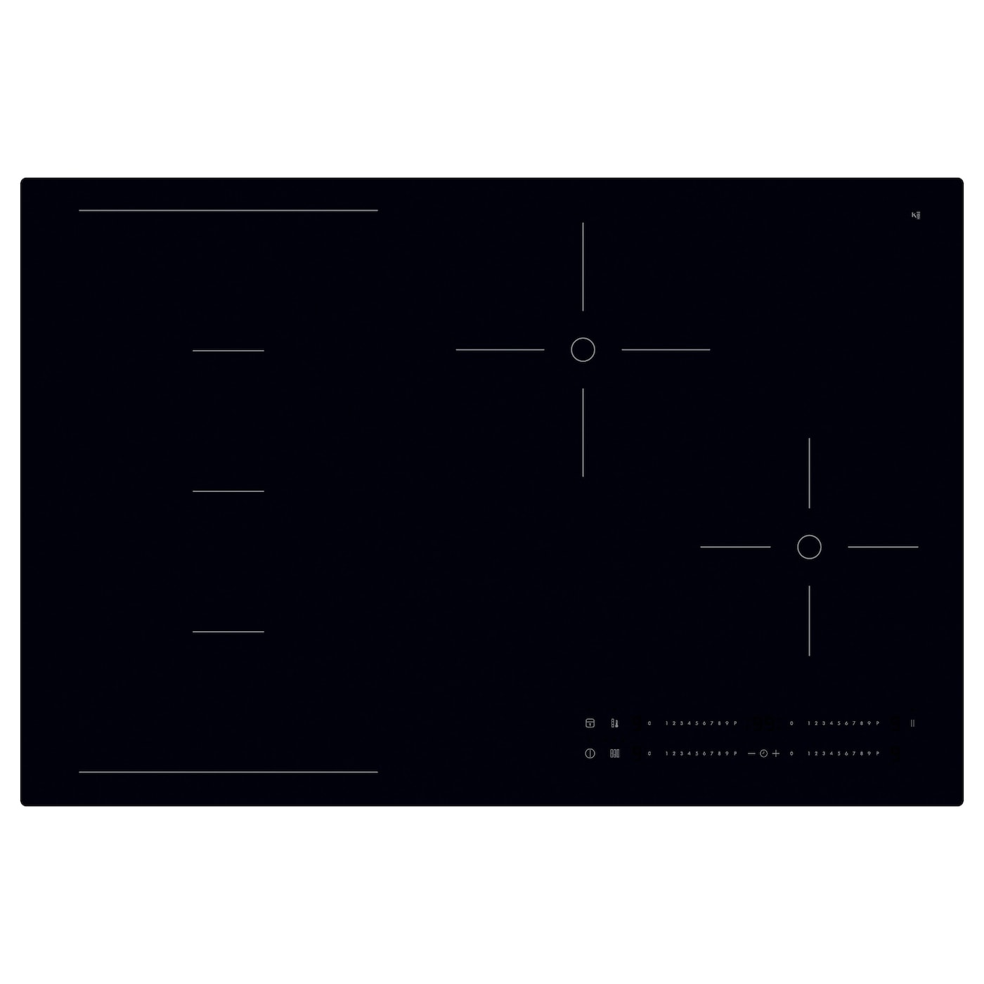 h gklassig induction hob with flexible zones black 78 cm ikea. Black Bedroom Furniture Sets. Home Design Ideas