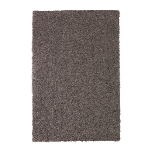 IKEA HÖJERUP rug, high pile The thick pile dampens sound and provides a soft surface to walk on.