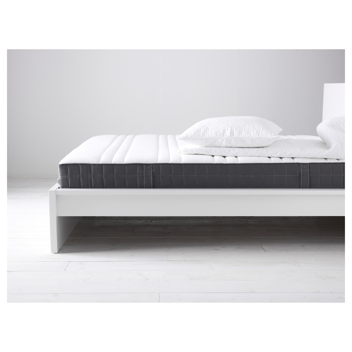 h v g pocket sprung mattress firm dark grey 120x190 cm ikea. Black Bedroom Furniture Sets. Home Design Ideas