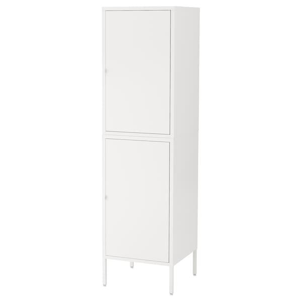 HÄLLAN Storage combination with doors, white, 45x47x167 cm