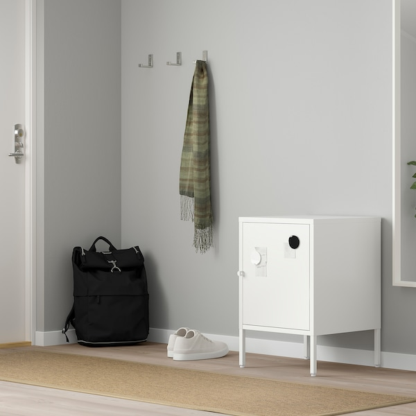 HÄLLAN Storage combination with doors, white, 45x47x67 cm
