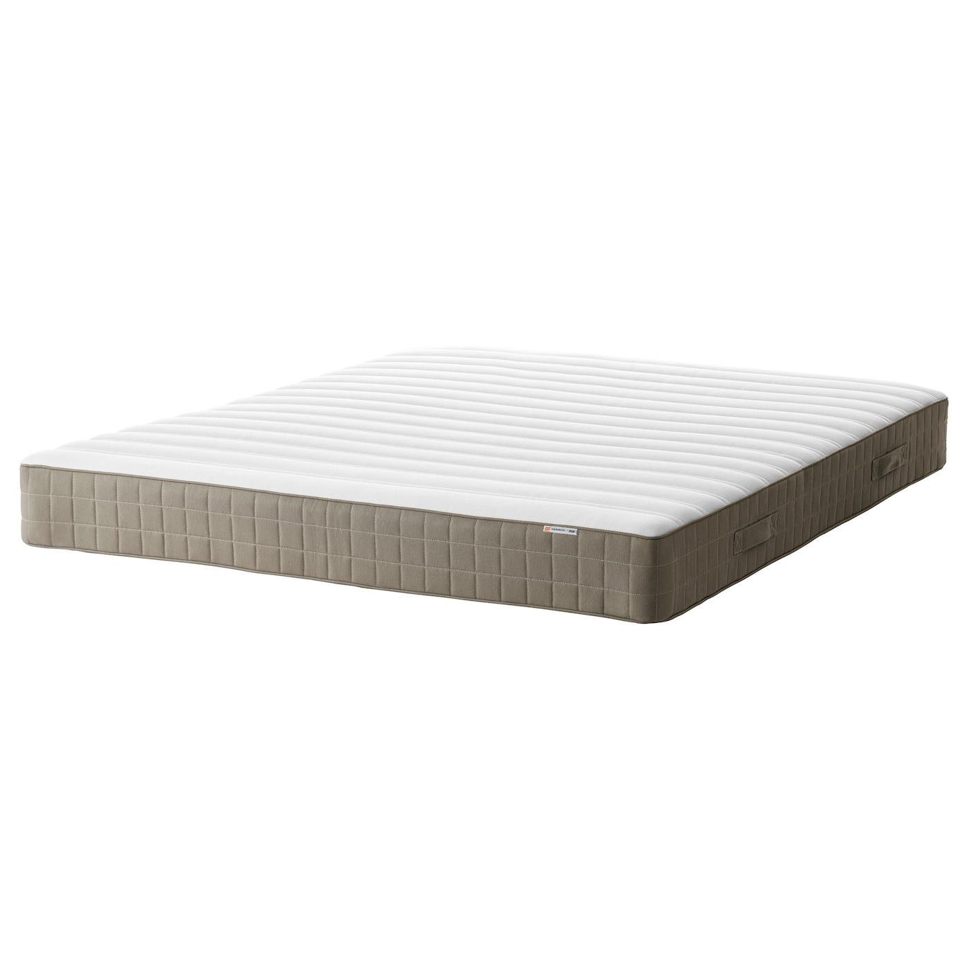 Hamarvik sprung mattress firm dark beige standard king ikea for Matelas 180x200