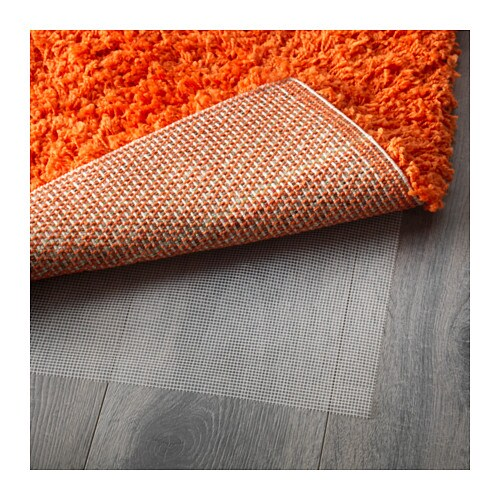 HAMPEN Rug, high pile Orange  IKEA