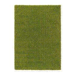 hampen rug high pile bright green 133x195 cm ikea. Black Bedroom Furniture Sets. Home Design Ideas