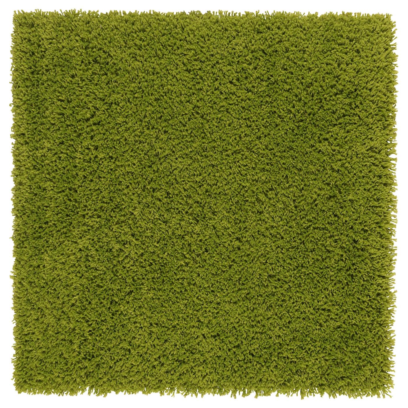 Hampen rug high pile bright green 80x80 cm ikea - Alfombra verde ikea ...