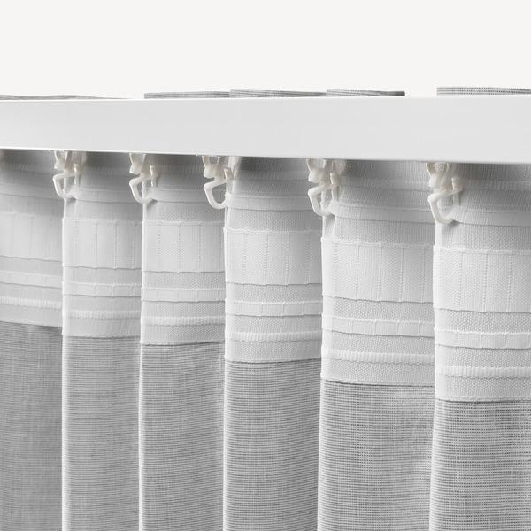 HANNALILL Curtains, 1 pair, grey, 145x250 cm