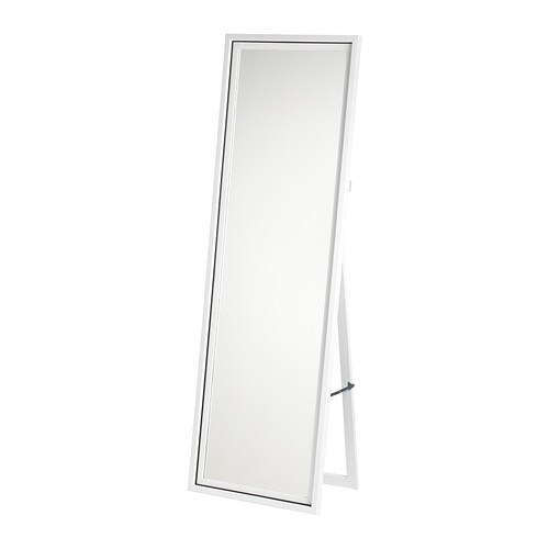 IKEA HARRAN standing mirror Provided with safety film - reduces damage if glass is broken.