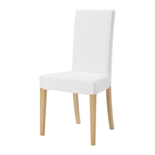 HARRY Chair IKEA Removable, machine washable cover; easy to keep clean.  Seat padded with polyester wadding and high back for enhanced seating comfort.
