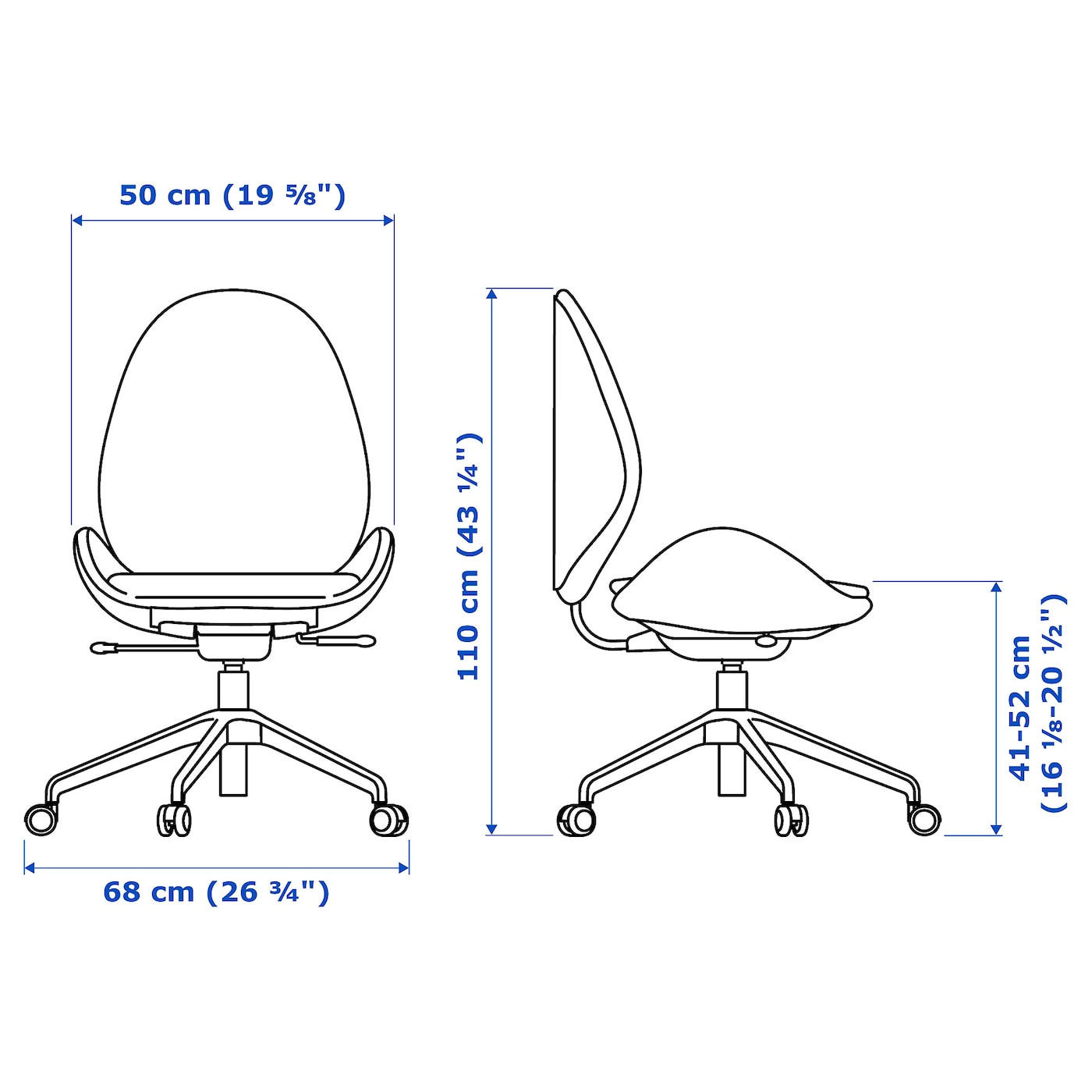 IKEA HATTEFJÄLL swivel chair 10 year guarantee. Read about the terms in the guarantee brochure.