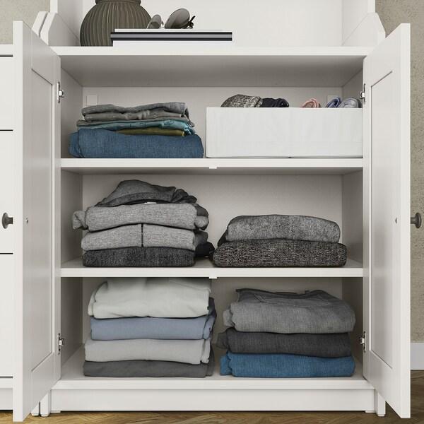HAUGA Storage combination, white, 139x46x116 cm