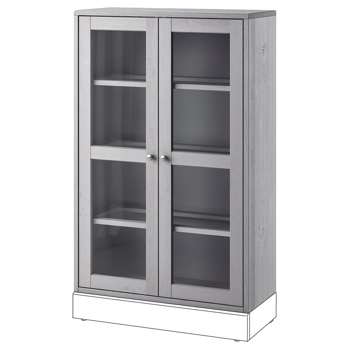 Ikea Havsta Glass Door Cabinet