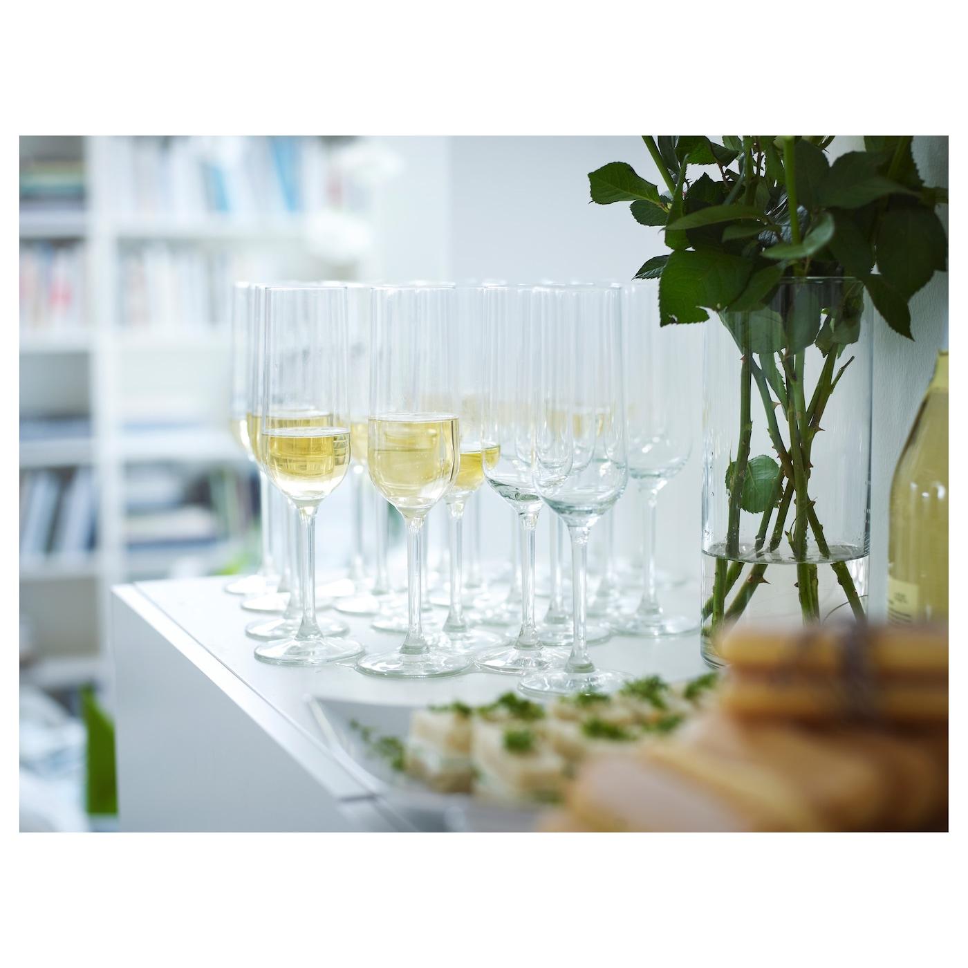 hederlig champagne glass clear glass 22 cl ikea. Black Bedroom Furniture Sets. Home Design Ideas
